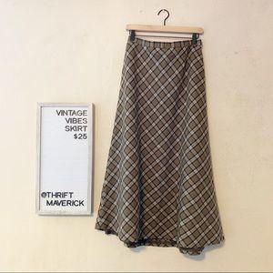 Talbots | Wool Plaid Skirt